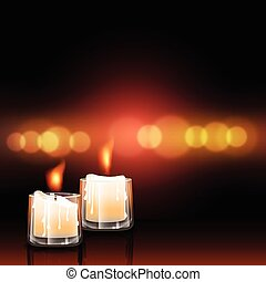 candles in light