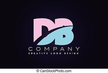 db alphabet letter join joined letter logo design - db...