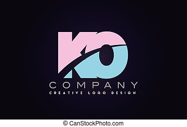 ko alphabet letter join joined letter logo design - ko...