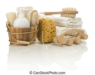 set of bathing articles