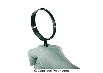 magnification magnifier hand take in fingers