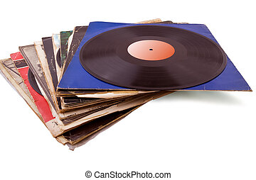 Vinyl records - Lots of vinyl recordsfor Oldies and Goldies...