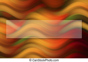 Background  - Colorful wave background with space for text.