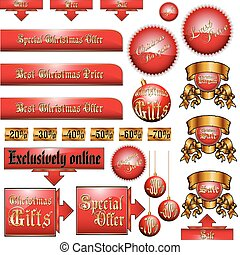 Christmas advertising set