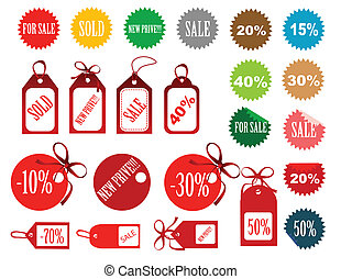 set of tags fully editable vector illustration