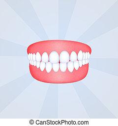 false teeth - illustration of false teeth