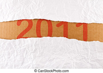 Torn paper strip series - new year concept