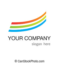 modern-logo - a template for a logotype and slogan of...