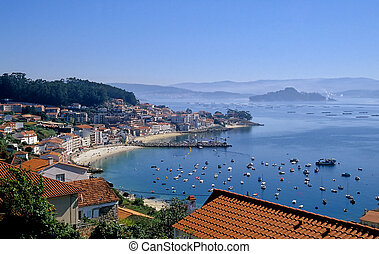 Granxa and the Ria de Pontevedra - A beautiful view over...