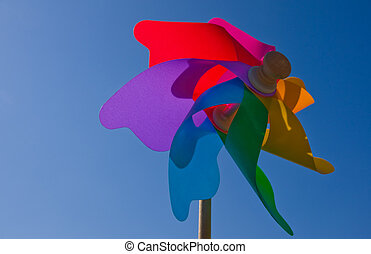 Colourful wind wheel - A colourful wind wheel with backlight...