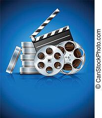 cinema, aplaudidor, vídeo, película, fita,...