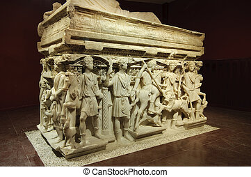 Sarcophagus of Antakya - The Antakya sarcophagus is called a...