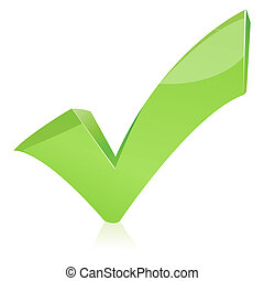 A4 - green check mark isolated on white