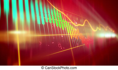 Volatile marketing line chart - Wonderful 3d rendering of a...
