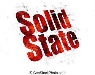 Science concept: Solid State on Digital background - Science...