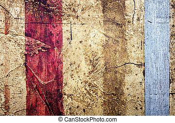 Wall decor texture - Red with golden and silver bumpy wall...