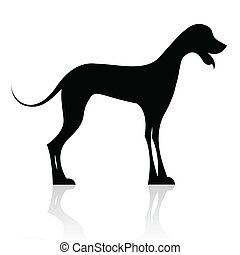 black dog silhouette - illustration of black dog silhouette...