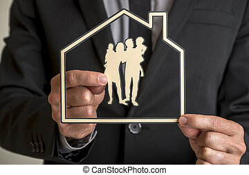 Family home ownership and lifestyle concept
