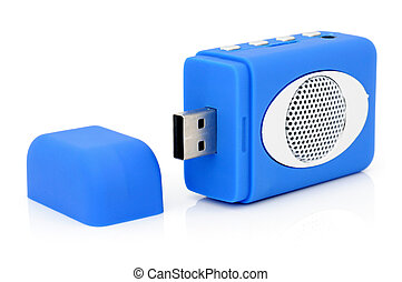 USB MP3-player with card-reader.