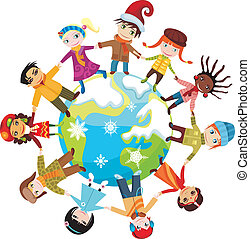 children - vector illustration of a children