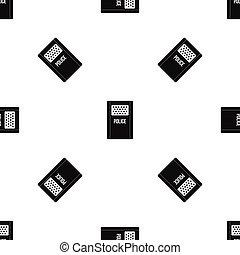 Riot shield pattern seamless black - Riot shield pattern...