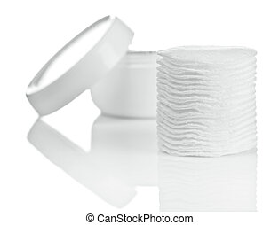 cotton pads and cream