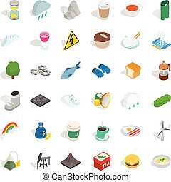 Brumal icons set, isometric style - Brumal icons set....
