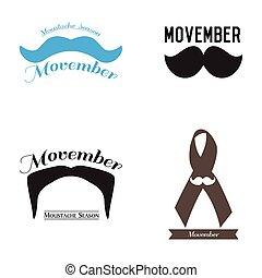Movember graphic design - Set of Movember graphic designs,...