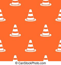 Traffic cone pattern seamless - Traffic cone pattern repeat...