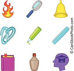 Opiate icons set, cartoon style - Opiate icons set. Cartoon...
