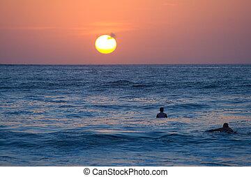 Surfers Sunset Kuta Bali