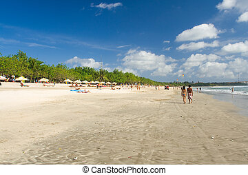 Real Bali Beach Kuta - An as-is scene of a real beach in...