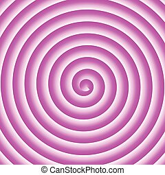 Pink and white spiral vector background.
