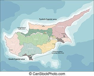 Map of Cyprus - Cyprus is an island country in the Eastern...