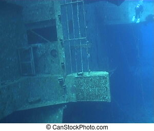 ship wreck underwater video - underwater diving video