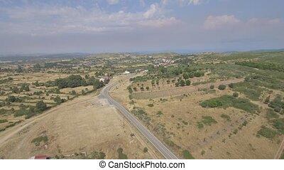 Figueruela de Arriba aerial view, Zamora - Approaching to...