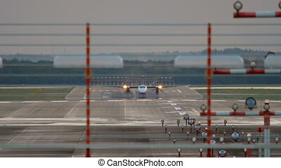 Bombardier Dash 8 take-off - DUSSELDORF, GERMANY - JULY 23,...