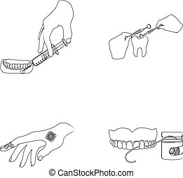 Anesthetic injection, dental instrument, hand manipulation,...