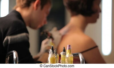 Ink tattoo - Create a beautiful tattoo in a tattoo salon....