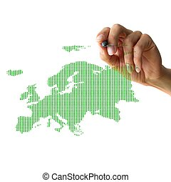 hand drawing europe