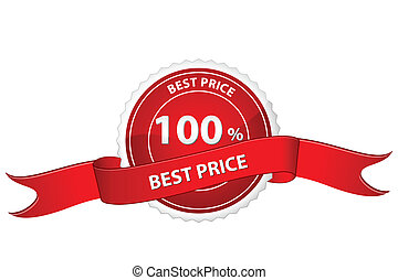 tag for best price - illustration of tag for best price on...