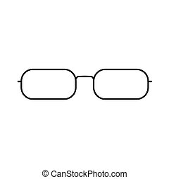 eye glasses- vector illustration