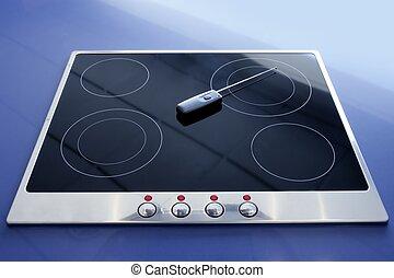 Stove vitroceramic electric kitchen wireless - Stove...