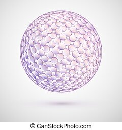 Delicate 3d Sphere of Pastel Colors. Geometric Abstract...
