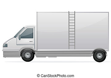 delivery truck - illustration of delivery truck on an...