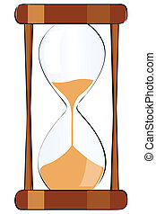illustration of isolated hour glass