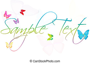 sample text with butterflies