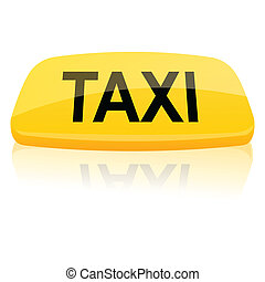 taxi sign - illustration of taxi sign on isolated background