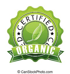 organic stamp - illustration of organic stamp on isolated...