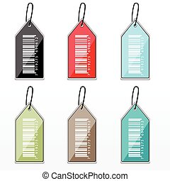 multicolor barcode tags